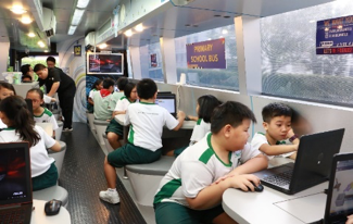 Collaboration with IMDA - Lab on Wheels (Coding in a bus)