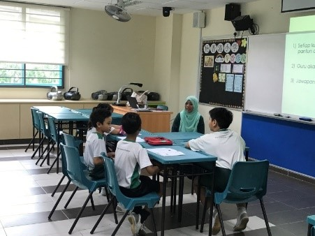 malay language culture camp: discussion in the classroom